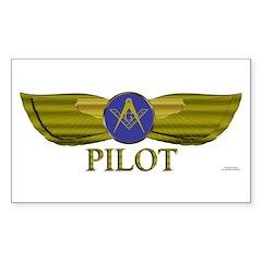 Mason Pilot Rectangle Decal