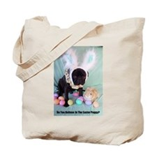 Easter Puggy Tote Bag
