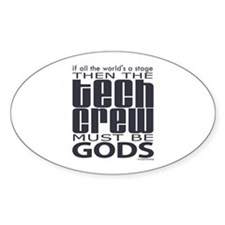 Tech Crew Gods Oval Decal