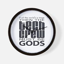Tech Crew Gods Wall Clock