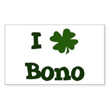 I Shamrock Bono Rectangle Decal