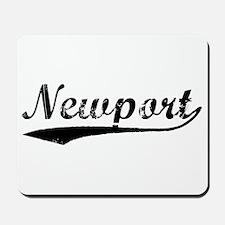 Vintage Newport (Black) Mousepad