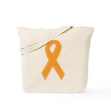 Orange Awareness Ribbon Tote Bag