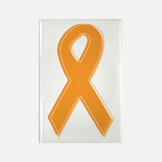 Orange Aware Ribbon Rectangle Magnet