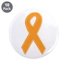 "Orange Aware Ribbon 3.5"" Button (10 pack)"