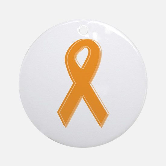 Orange Aware Ribbon Ornament (Round)