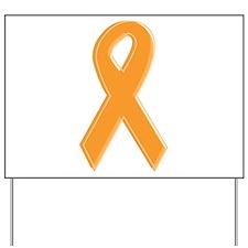 Orange Aware Ribbon Yard Sign