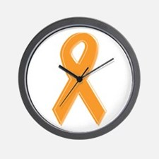 Orange Aware Ribbon Wall Clock