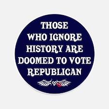 """IGNORE HISTORY VOTE REPUBLICA 3.5"""" Button"""