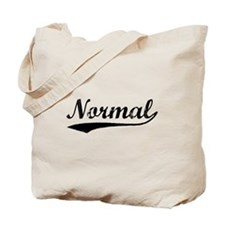 Vintage Normal (Black) Tote Bag