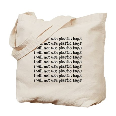 Bad Little Plastic Tote Bag