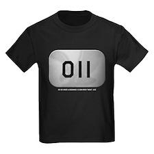 Alpha 011 Kids Black T-Shirt