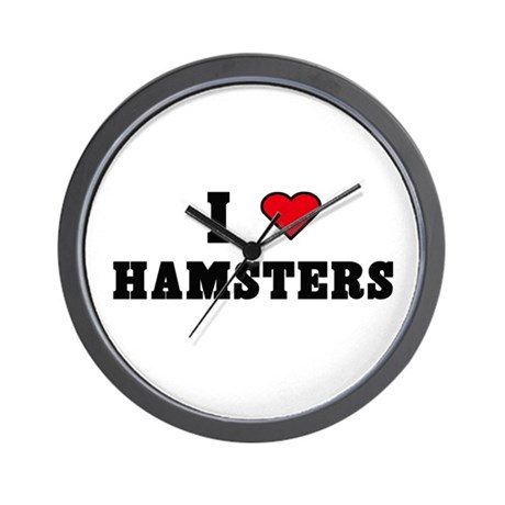 """I love Hamsters"" Wall Clock"