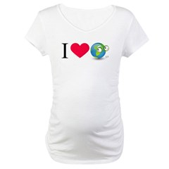 I Love Earth t-shirt Maternity T-Shirt