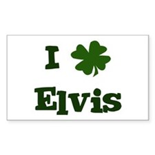 I Shamrock Elvis Rectangle Decal
