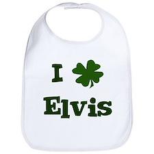 I Shamrock Elvis Bib