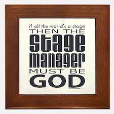 Stage Manager God Framed Tile