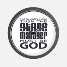 Stage Manager God Wall Clock
