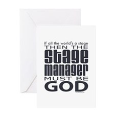 Stage Manager God Greeting Card