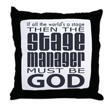 Stage Manager God Throw Pillow