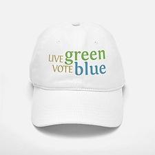 Live Green Vote Blue Baseball Baseball Baseball Cap