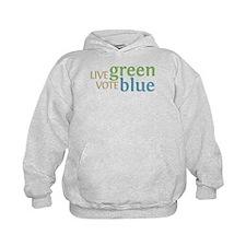 Live Green Vote Blue Hoodie