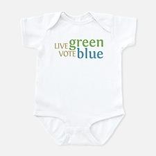 Live Green Vote Blue Onesie