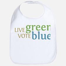 Live Green Vote Blue Baby Bib