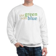 Live Green Vote Blue Jumper