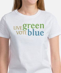 Live Green Vote Blue Tee