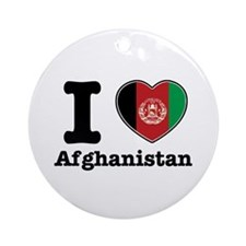 I love Afghanistan Ornament (Round)