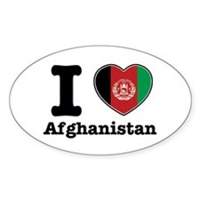 I love Afghanistan Oval Decal