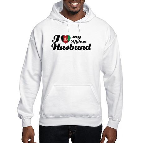 I love my Afghan Husband Hooded Sweatshirt