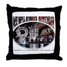 We Will Always Remember 911 Throw Pillow