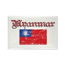 Myanmar Flag Rectangle Magnet
