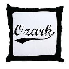 Vintage Ozark (Black) Throw Pillow