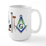 Masonic Brothers Scene Large Mug