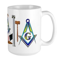 Masonic Brothers Scene Mug