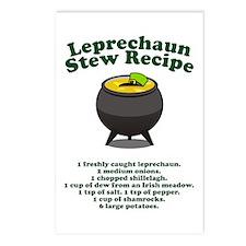 Leprechaun Stew Recipe Postcards (Package of 8)