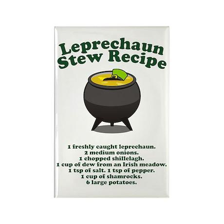 Leprechaun Stew Recipe Rectangle Magnet