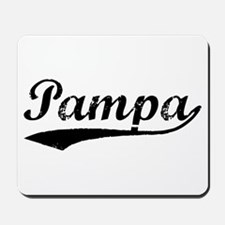 Vintage Pampa (Black) Mousepad