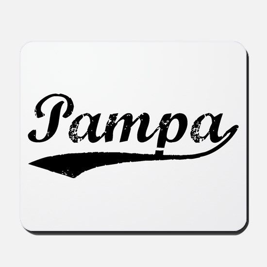 Vintage Pampa (Black) Mousepad
