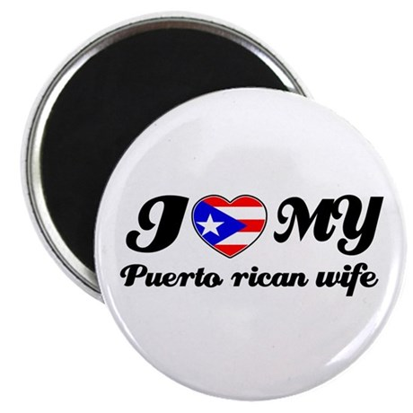 """I love my Puerto rican Wife 2.25"""" Magnet (10 pack)"""