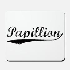 Vintage Papillion (Black) Mousepad