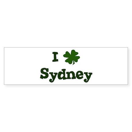 I Shamrock Sydney Bumper Sticker