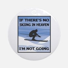 Skiing In Heaven Ornament (Round)
