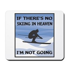 Skiing In Heaven Mousepad