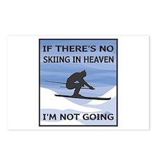 Skiing In Heaven Postcards (Package of 8)