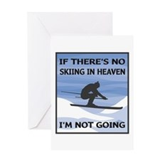 Skiing In Heaven Greeting Card