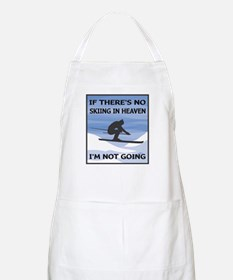 Skiing In Heaven BBQ Apron